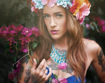 Passion of flowers headpiece