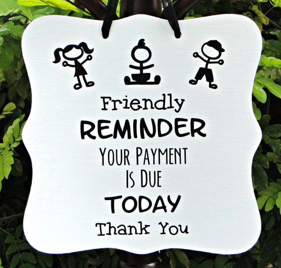 Rent Due Clip Art: Reminder Payment Due Sign Business Sign Office Sign By
