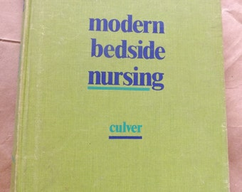 2 Nursing Books - Pediatrics - Bedside Nursing - Vintage Books