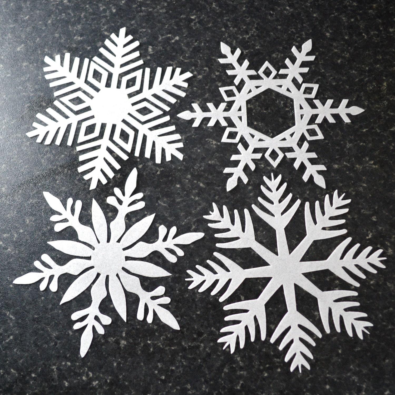 Edible Snowflakes White Winter Wedding Cake by WicksteadsEatMe