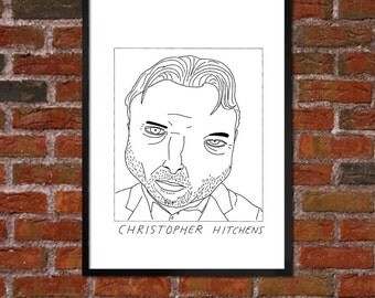 Badly Drawn Christopher Hitchens - Literary Poster - *** BUY 4, GET A 5th FREE***