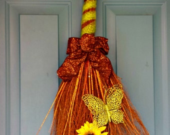 Sunflower Decor, Butterfly decor, Front Door decoration, sunflower decoration, butterfly decoration, swag, wreath, wreaths, front door decor