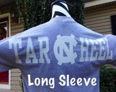 Oversized Text Long Sleeve T-Shirt College Monogram T-Shirt Custom TShirt Preppy Monogram Tee Monogrammed T Shirt Monogrammed Gifts