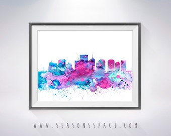 Richmond skyline | Etsy