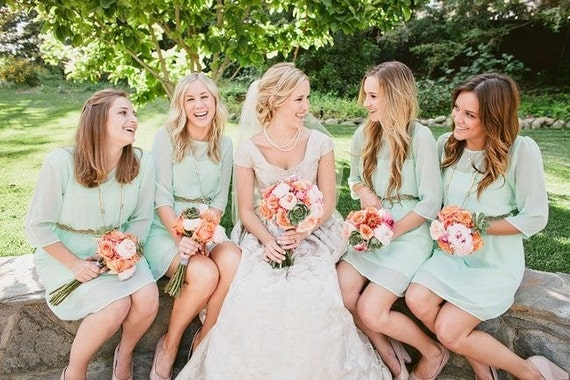 Mint Blue Bridesmaid Dress Mint Bridesmaid Dress Wedding Dress Gifts for Bridesmaid Chiffon Bridesmaid Dress Navy Bridesmaid dress