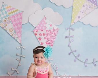 Photography Backdrop Spring, Newborn Photography Backdrop, Vinyl Photography Backdrop, Baby Photography Backdrop for Girls Kids - SPG123