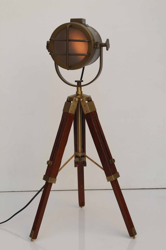 antique tripod floor lamp by thedezinez on etsy. Black Bedroom Furniture Sets. Home Design Ideas