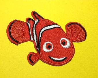 Iron on Sew on Patch:  Clown Fish Nemo