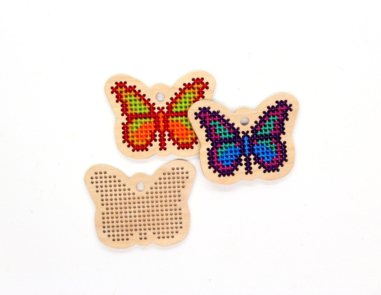 Wooden cross stitch blanks for modern embroidery