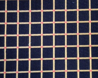 Black and Gold Grid Upholstery Fabric