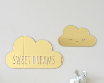 Cloud wall decor, nursery wall decor, sweet dreams nursery decor, 3d wall art