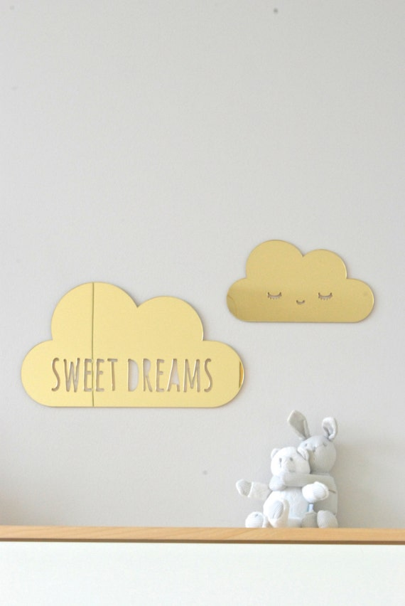 Paper Clouds Wall Decor : Cloud wall decor nursery sweet dreams