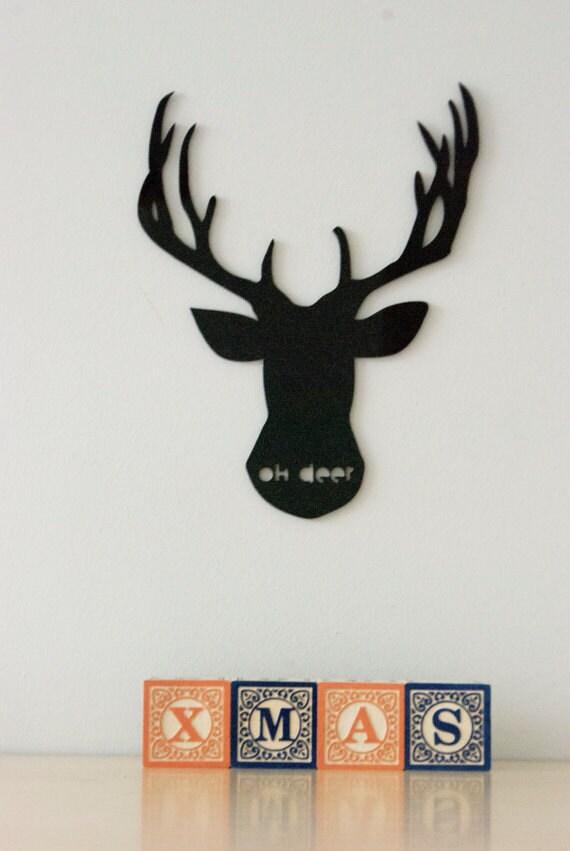 Deer Head Wall Art Oh Deer Christmas Decor Nursery By