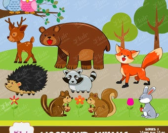 Wildlife clipart   Etsy
