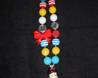 Chunky Snow White necklace