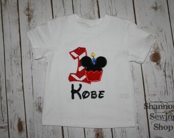 Mickey Birthday Shirt (numbers 1-9)