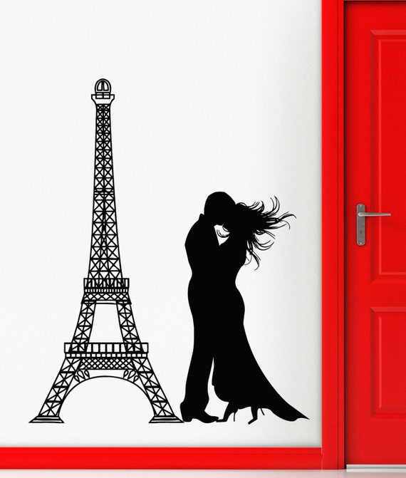 Romantic Eiffel Tower Wall Decal by Wallstickers4you