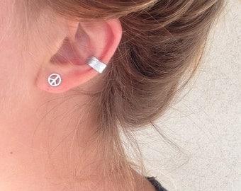 Silver Hammered Ear Cuff