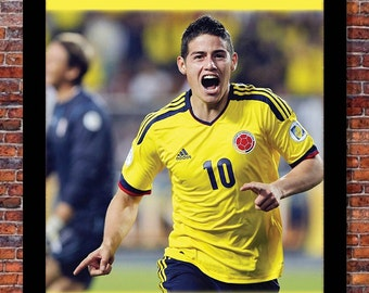 World Cup Soccer | James Rodriguez Poster | 13 x 19 inches