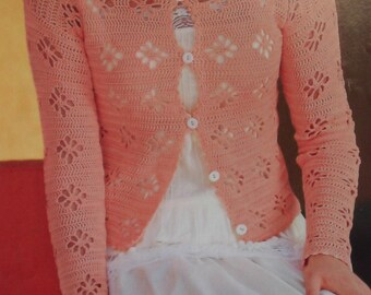 Handmade crochet top cardigan blazer women crochet clothes MADE TO ORDER