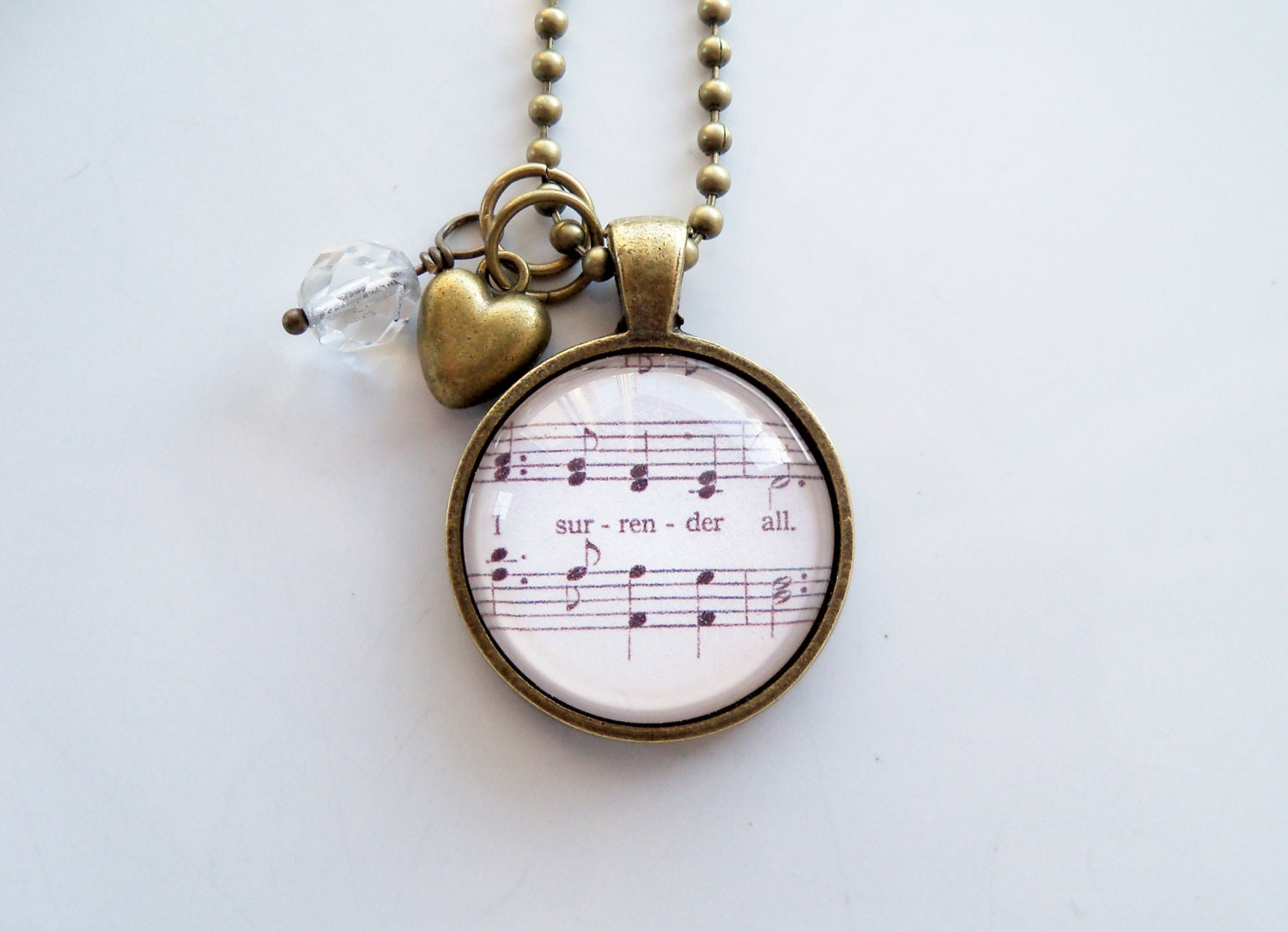 Hymn Necklace I Surrender All You Choose Bead And Charm