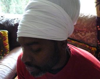 Original Rasta turban white headwrap boboshanti Sizzla Nyabinghi Rasta turban