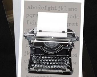Greeting Card - Underwood Typewriter