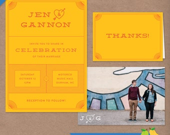 Playful Wedding Printable Invitation Suite