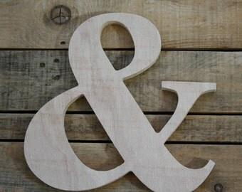 Wooden letter, freestanding wooden letter, shelf decor,Ampersand wood letter, & wood letter, wall decor, home decor // GIFT