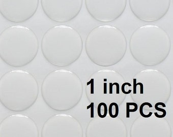 100pcs 1 inch (2.54cm) High Quality Clear Round Epoxy Stickers for Bottle Caps and Pendants, Wholesale Bottle Cap stickers  E001