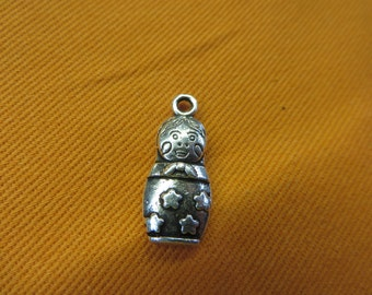 Russian Doll Charms Antique Silver Tone  2286-B08699 Doll charm Russia charm 4