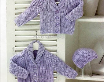 Baby Shawl Collar Knitting Pattern : Popular items for ribbed cardigan on Etsy