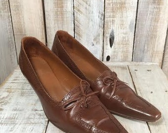 Brown High Heels -Brown Pumps - business shoes - women high heel shoes - high heeled shoes - Wench - Jaime Mascaro - brown heels - Size 40