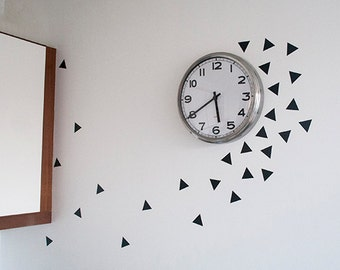 Triangle wall decal 64 stickers.