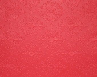 Beautiful Brocade, 20 LETTER SIZE 8.5 inx11 inch Embossed/Textured Cardstock. Choose Color Metallic Finish, FREE Shipping