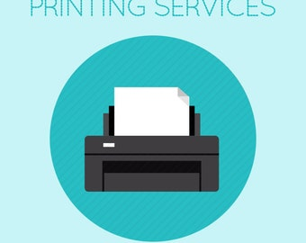 ADD PRINTING to your order, Printing Services for Elle Papel Printables