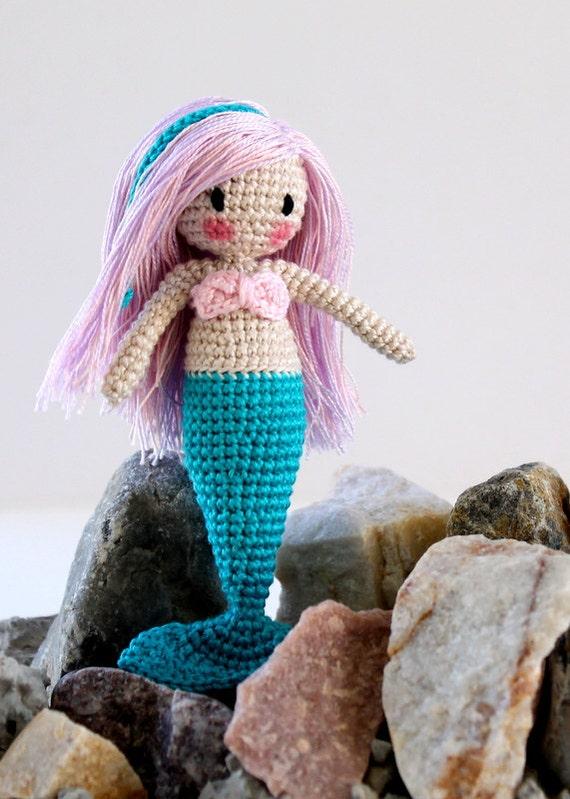 Amigurumi Mermaid Tail : Amigurumi Mermaid Doll Waldorf Inspired Custom Mermaid