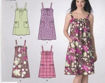 Loose-Fitting Shoulder Strap Dress Sundress Summer Dress Simplicity Sewing Pattern 2421 Size 6-16
