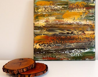 Abstract Art, Green Art, Brown Art, Textured Art, Woodland Art, Rustic Art, Rustic Decor, Green Decor, Brown Decor, Simple Art