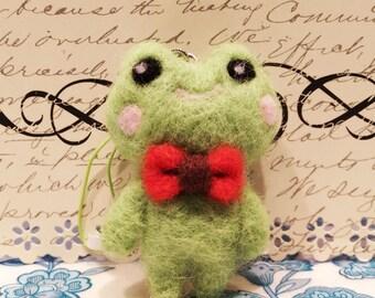 Needle Felted Frog, Felt Frog, Felt Frog Charm