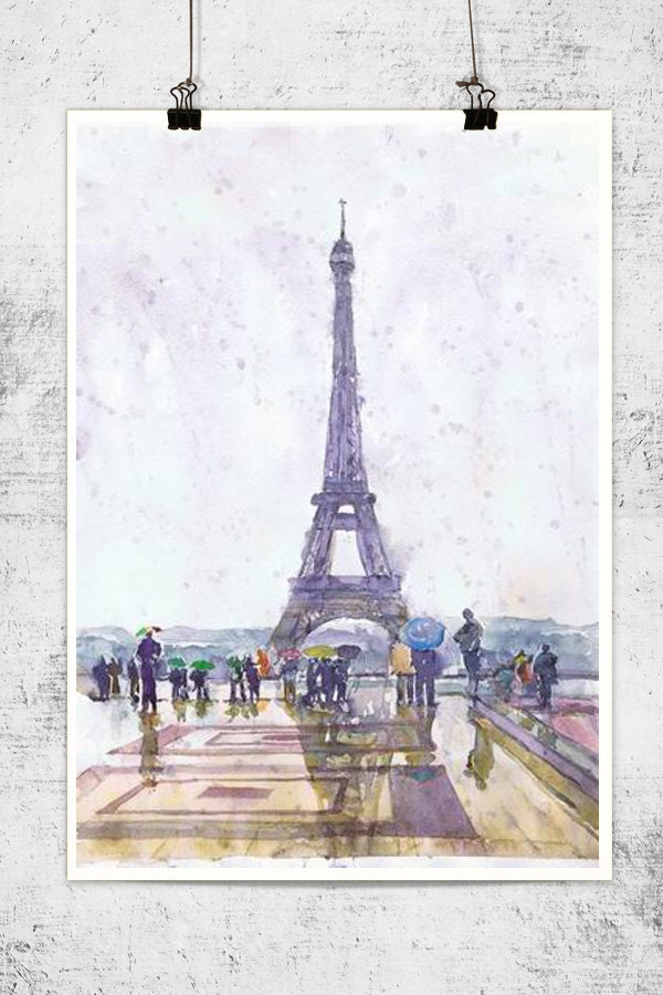 Préférence Paris Print Watercolor Painting Paris Poster Paris Decor DX83