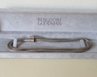 Vintage Bergdorf Goodman Sterling Silver Rope Necklace