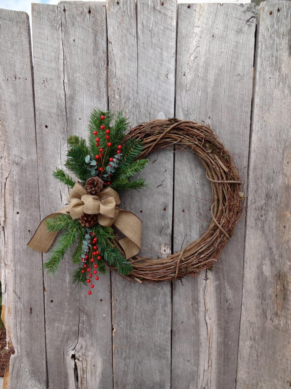 winter wreath holiday wreath christmas wreath front door. Black Bedroom Furniture Sets. Home Design Ideas