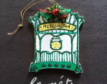 Handmade Métro Ornament