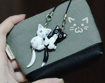 Black and White Cat Charms