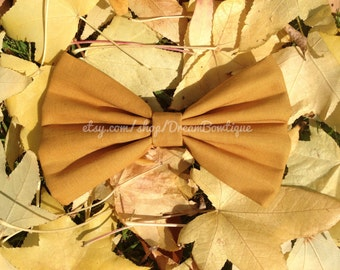Mustard Yellow Hair Bow