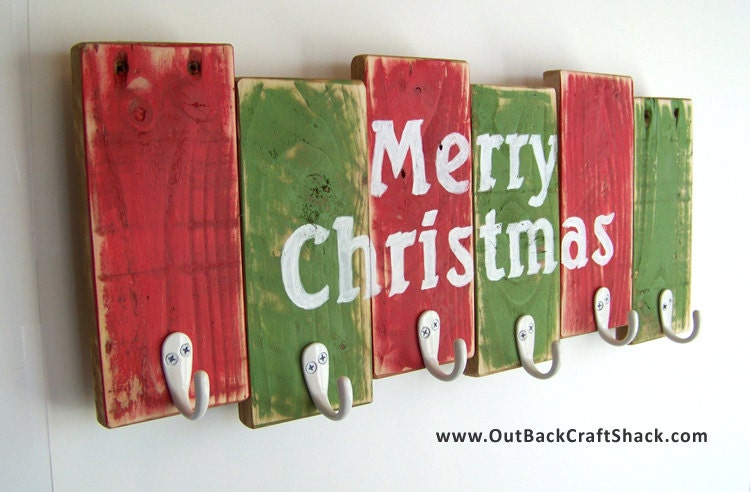 Christmas Stocking Hanger Reclaimed Wood Christmas