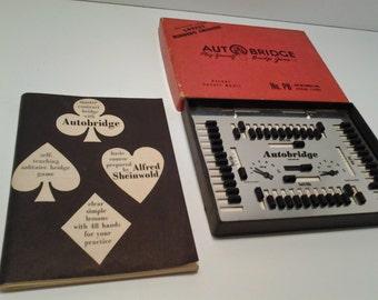 1950's Auto Bridge, Vintage Game, 50's Bridge Club, Bridge Game, Travel Game, Pocket Games
