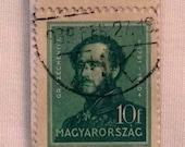 1932 Hungarian Count István Széchenyi Stamp Bookmark