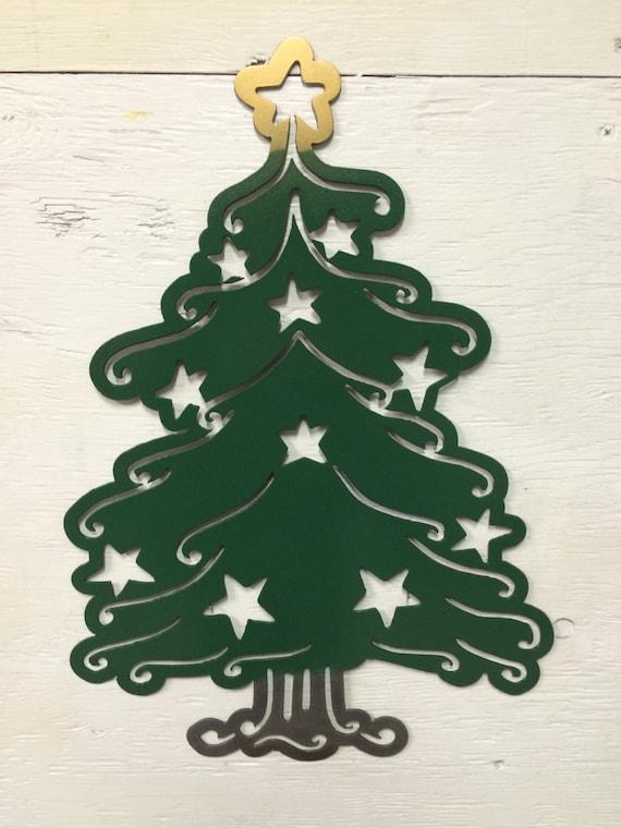 Metal star christmas tree decor x